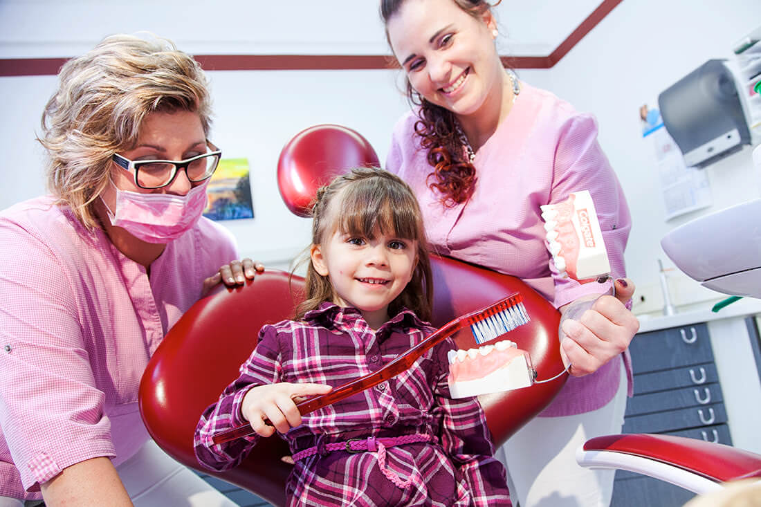 Zahnarztpraxis Müller & Lüttke in Kranichfeld, Leistungen, Prophylaxe für Kinder